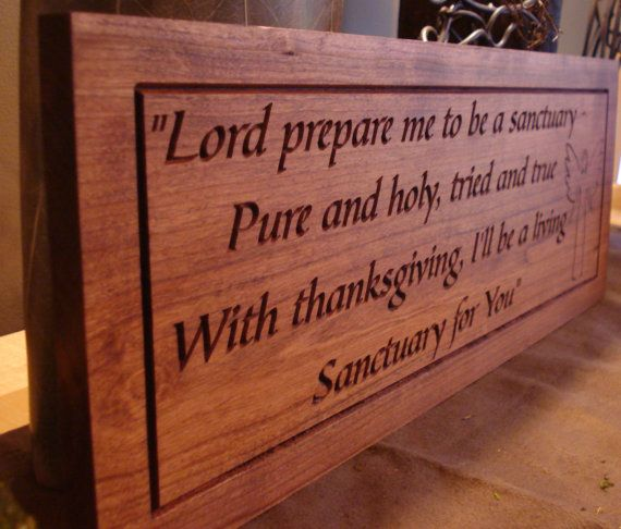 18 X 7 Wood Carved Inspirational Quotes Religious Gifts