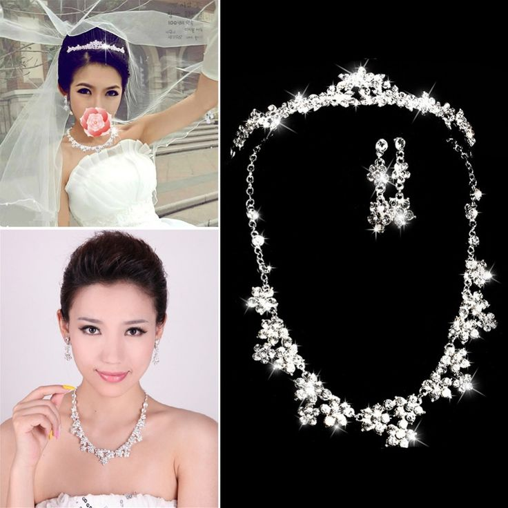 Cheap bride performance, Buy Quality jewelry office directly from China jewelry group Suppliers:  100% Brand New and High Quality!This Luxurious shining Diamante Rhinestone design necklace and earring