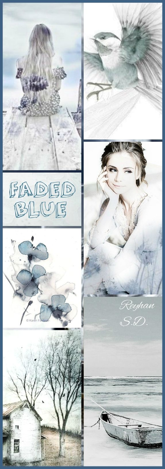 '' Faded Blue '' by Reyhan S.D.