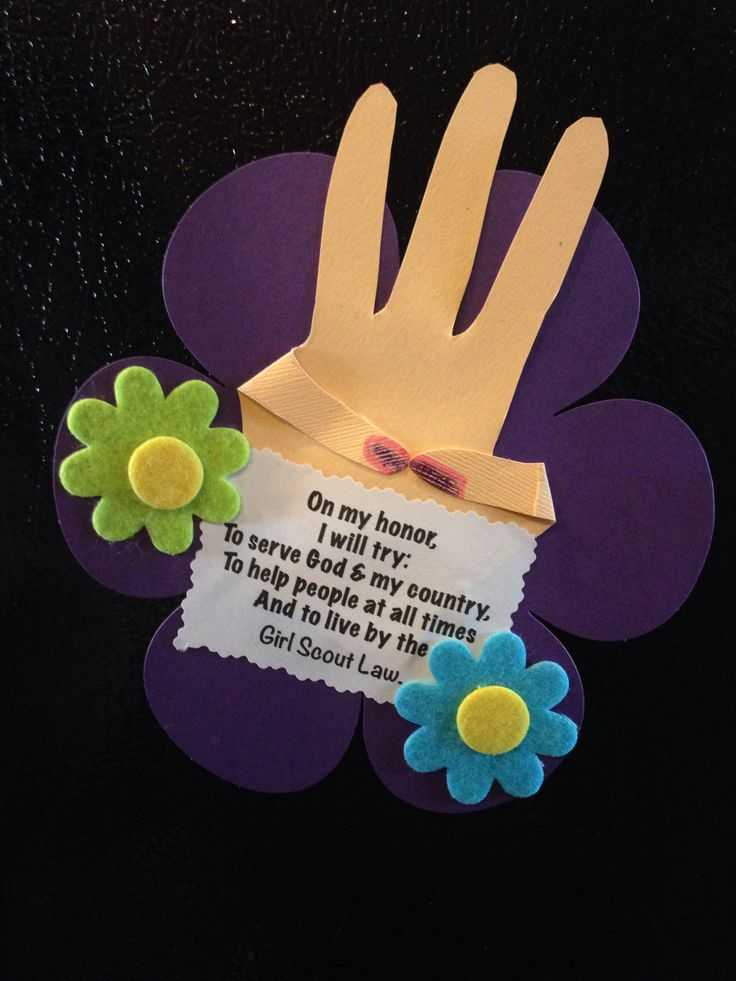 girl scout promise magnet craft for daisies girl