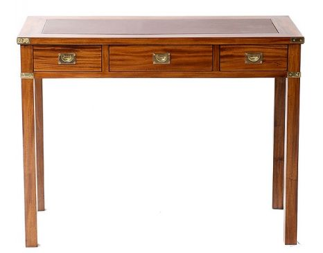 Bruton -  Military Writing Table Leather
