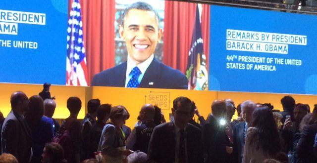 """Obama a Milano: """"Possiamo vincere la sfida sul cibo"""". L'ex presidente in prima fila per la  salvaguardia dell'ambiente e la sicurezza alimentare"""