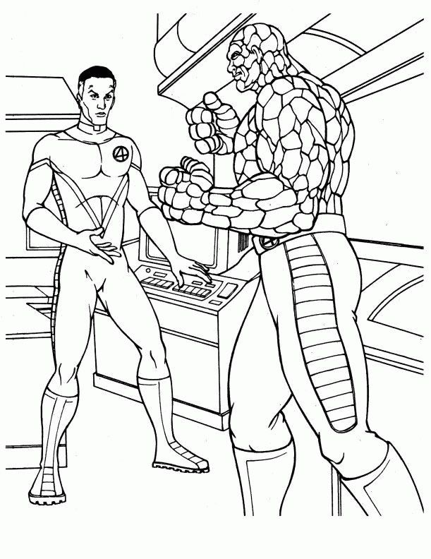 pin auf fantastic four coloring pages