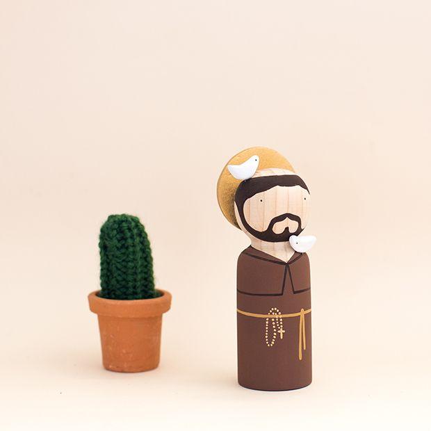 Bonecos de madeira Major Tom - São Francisco;