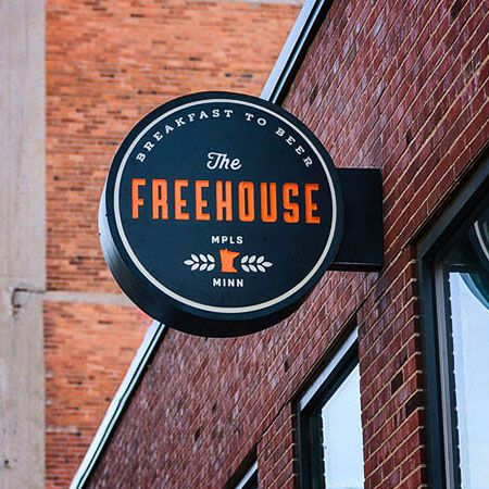The Freehouse signage designed by Bolster.