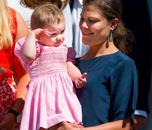 Princess Estelle wears old dresses of her mother Crown Princess Victoria of Sweden