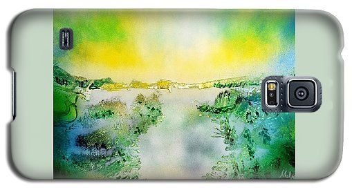 Lake Of Transparency Galaxy S5 Case Printed with Fine Art spray painting image Lake Of Transparency by Nandor Molnar (When you visit the Shop, change the orientation, background color and image size as you wish)