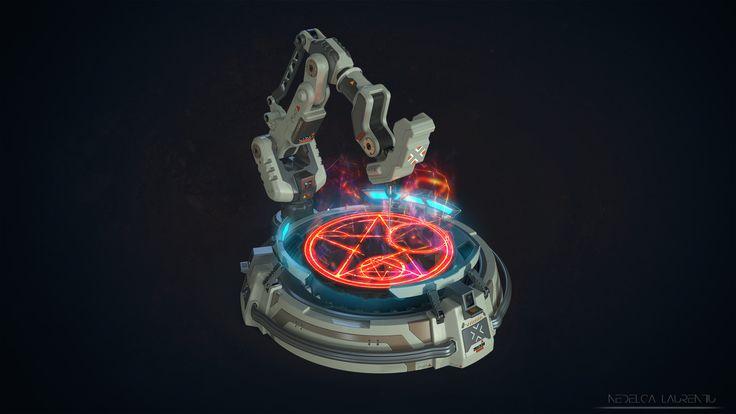 DOOM - Laser Engraving Fan Art, Laurentiu Nedelca on ArtStation at https://www.artstation.com/artwork/rYxna