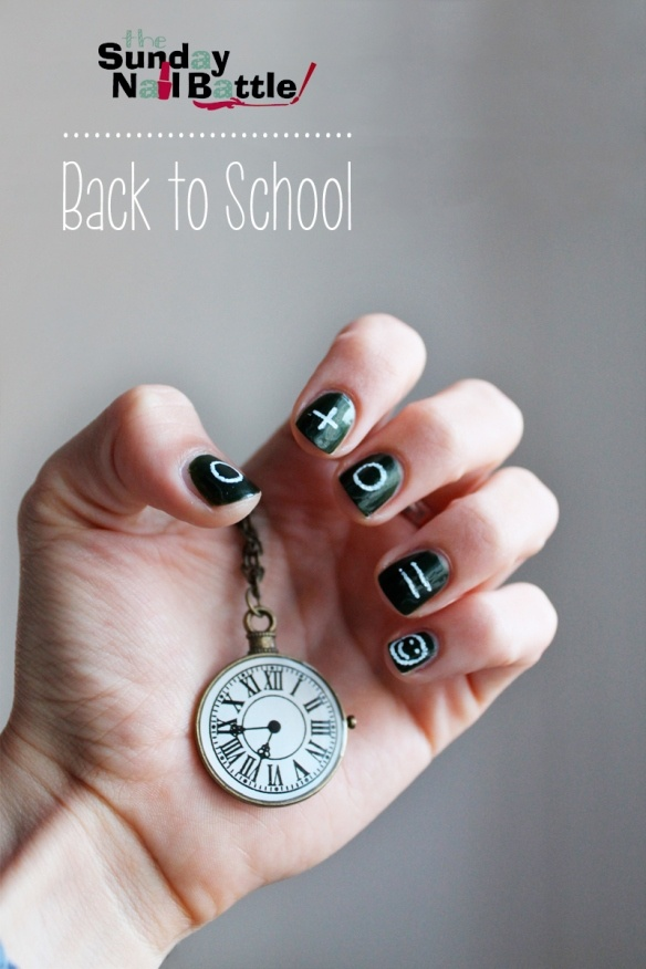 Sunday Nail Battle - Back to school  http://nailartpaintersp.blogspot.com.es/