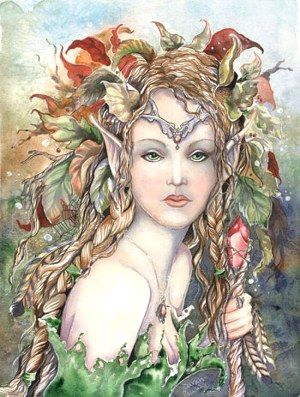 Watercolor Fantasy and Fairy art by Sarah Pauline: