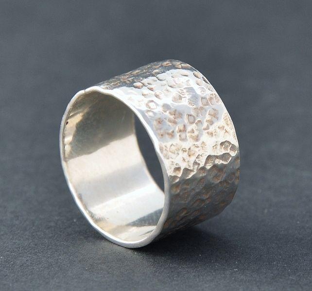 Handmade wide Sterling silver ring £30.00