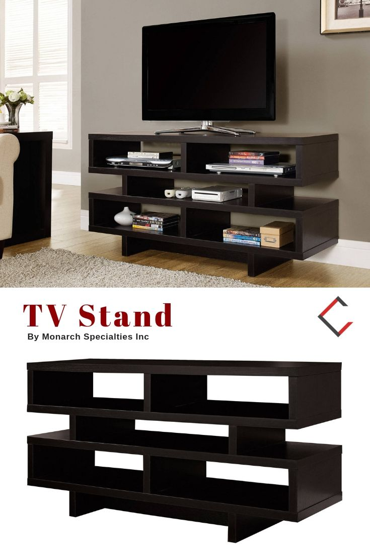 Monarch Specialties Cappuccino Tv Stand The Classy Home Furniture