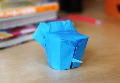 Origami olifant, maken voor Jolan :)