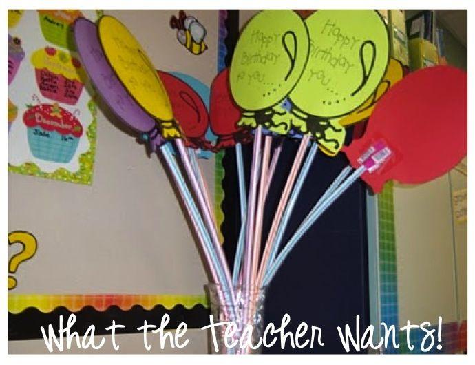 Student Birthday Gifts {Pixie Stick Balloon}-- Free download: Student Birthdays, Happy Birthday, Birthday Balloon, Birthday Treats, Students Birthday, Pixie Sticks, Classroom Ideas, Birthday Gifts, Birthday Ideas