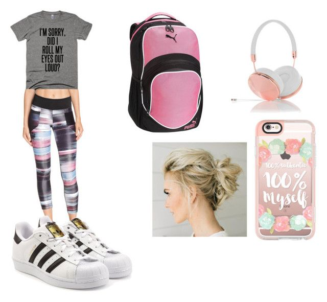 workout by cocoblair25 on Polyvore featuring Koral, adidas Originals, Puma, Frends and Casetify