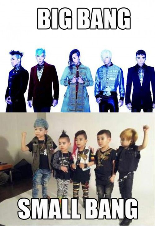 Big Bang ♥ T.O.P TOP Choi Seung-hyun November 4, 1987 (age 24) ♥ Taeyang SOL Dong Young-bae BD May 18, 1988 (age 24) ♥ G-Dragon GD Kwon Ji-yong BD August 18, 1988 (age 24) ♥ Daesung D-Lite Kang Dae-sung April 26, 1989 (age 23) ♥ SeungriV.I.Lee Seung-hyun BD December 12, 1990 (age 21) they're so cute!