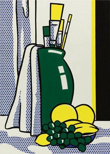 Roy Lichtenstein Still Life with Green Vase 1972