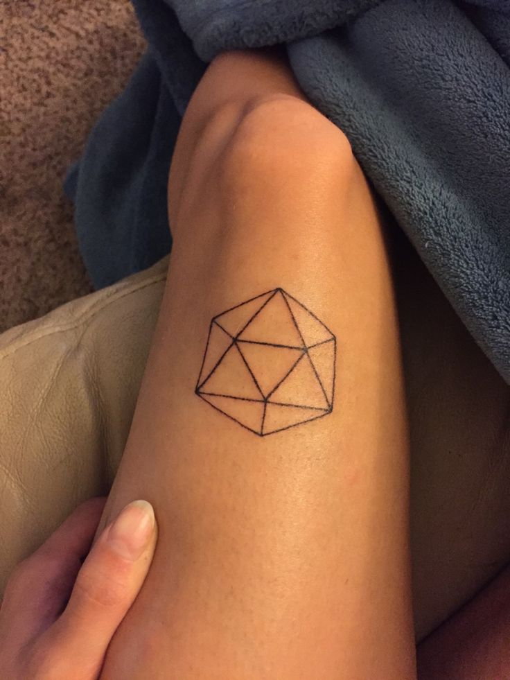 Icosahedron done by me today with tattoo needle and ink. Atlanta Ga if anyone is interested in a tattoo trade :) seekingthatflightytemptress