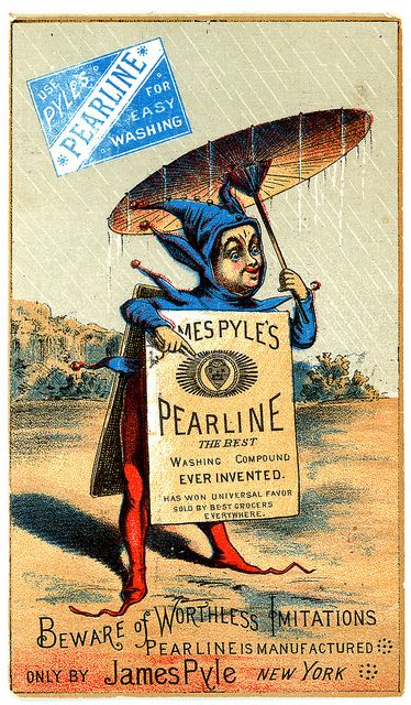 Trade Card Pearline Soap by gr8plunder, via Flickr