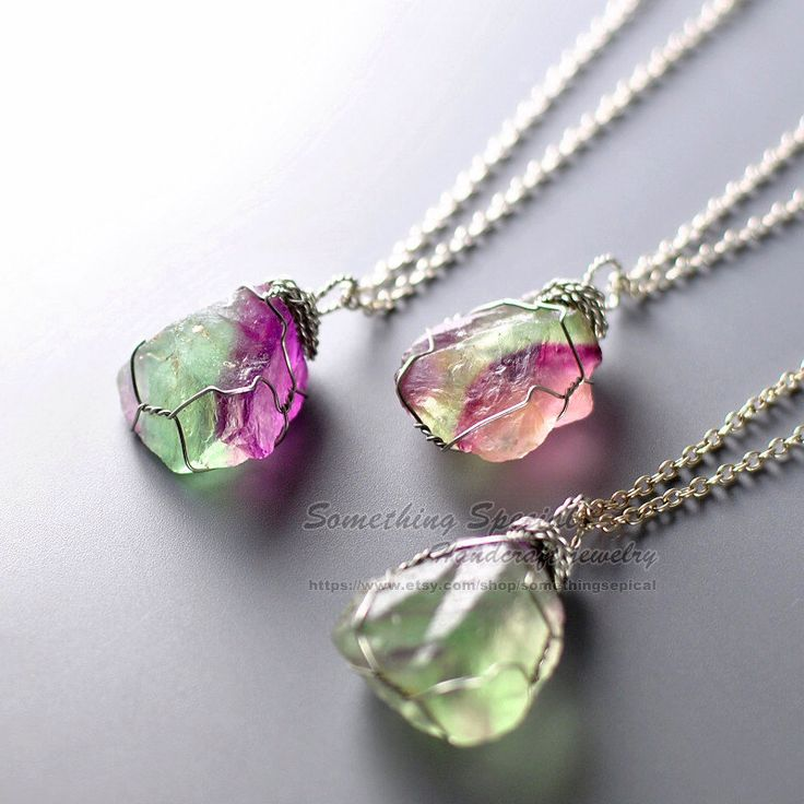rainbow fluorite necklace necklace green