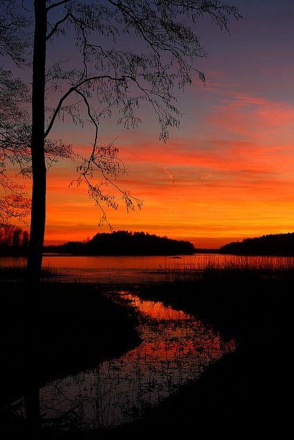 Sunset, Finland | ©basrisanem  (Lohja, Finland) #Finland