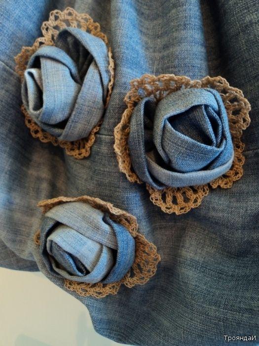 Украшения и разные штучки из джинсовой ткани - Ярмарка Мастеров - ручная работа, handmade