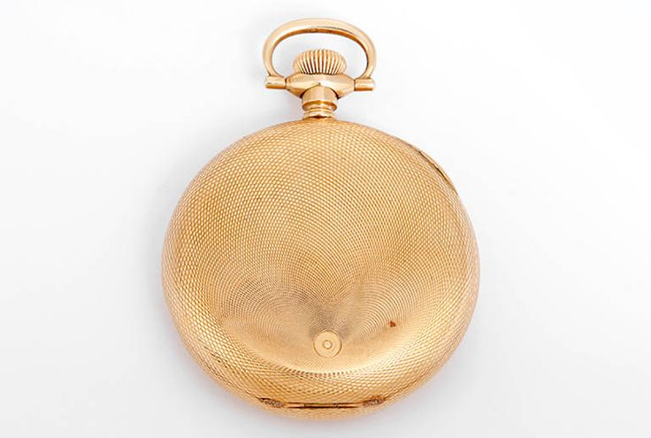 Hampden Yellow Gold Hunting Case Pocket Watch | From a unique collection of vintage pocket watches at https://www.1stdibs.com/jewelry/watches/pocket-watches/