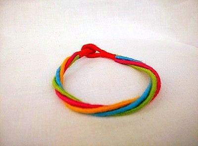 Multicolor Threaded Bracelet