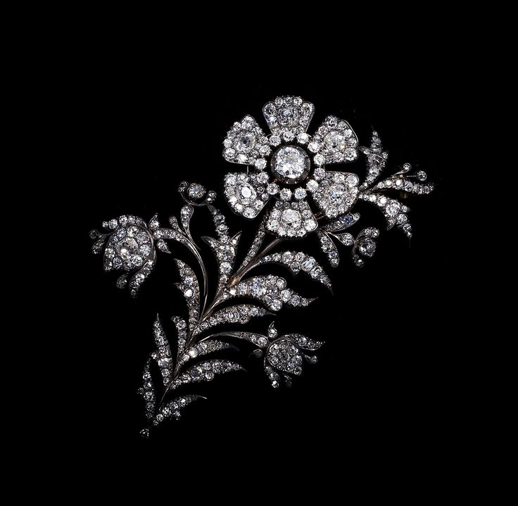 """ en tremblant "" Diamond spray brooch  circa 1830 (C)Regard Co.,Ltd"