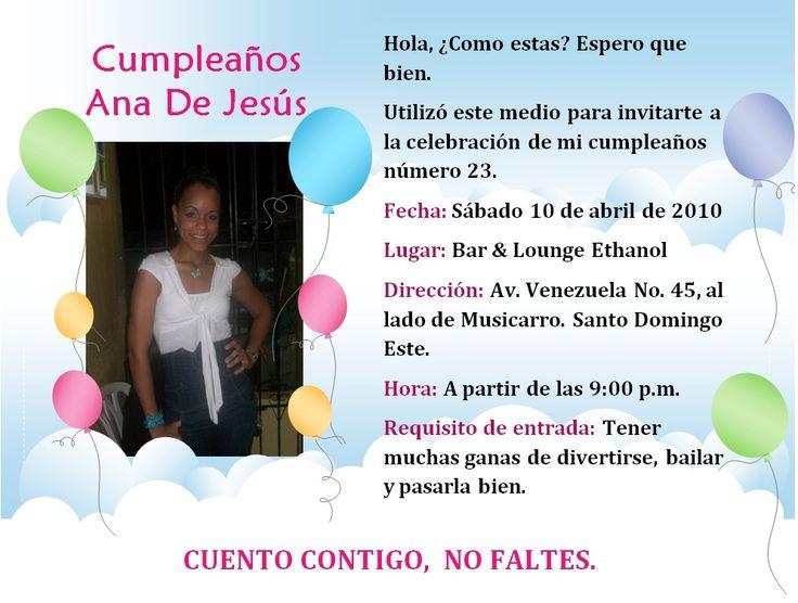 Invitaciones De Cumpleaños Virtuales Para Fondo De ...