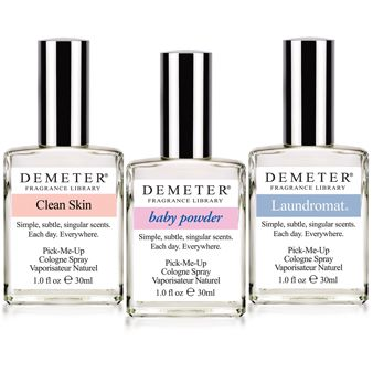 Super-duper fresh perfumes: Demeter Fresh & Clean Cologne Set. Includes Baby Powder, Pure Soap, and Laundromat. #fragrance #beauty