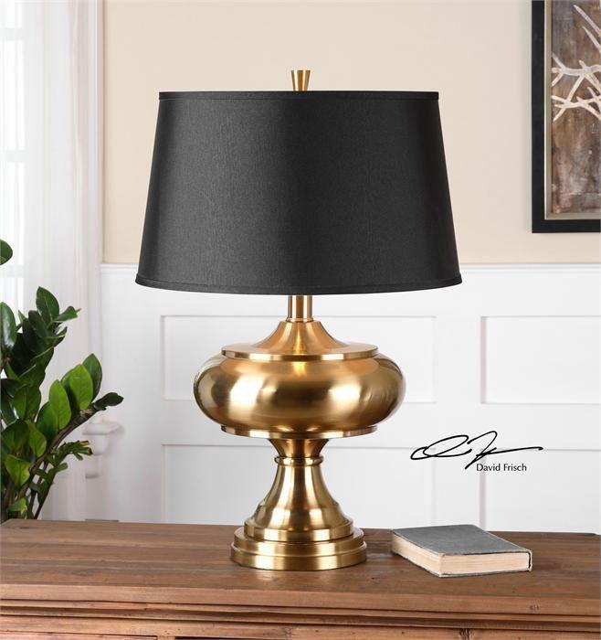 South Shore Decorating: David Frisch 26681 Jelani Brass Transitional Table Lamp UM-26681