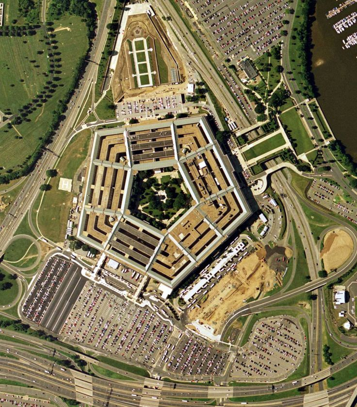 Pentagon Cabin Plans: Pentagon, Wash D C, USA With North-facing Triangular