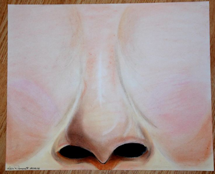 Un nez que j'ai aussi fait avec des craies pastelles :)