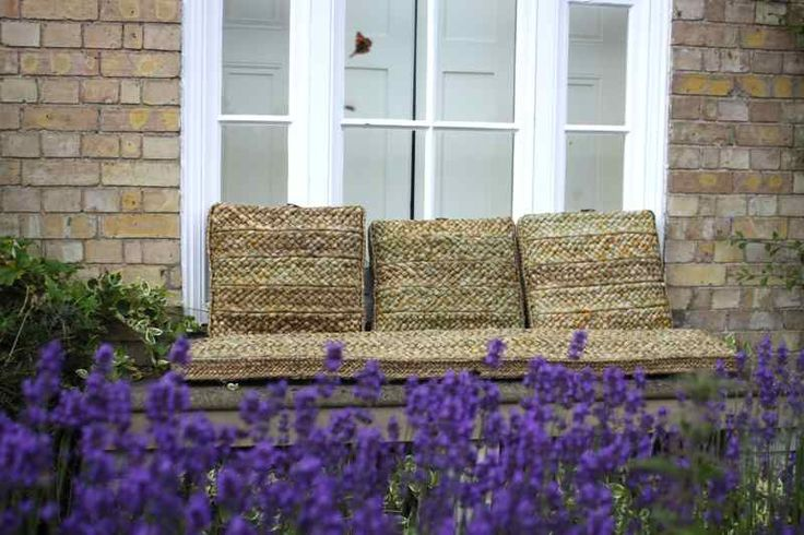 Rush bench cushion £252.00  Floor/seat cushions £120.00