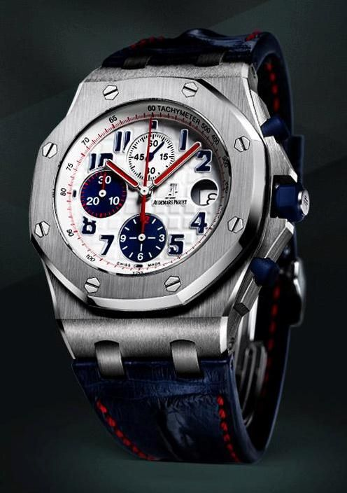 ♂ man's fashion accessories watch blue Audemars Piguet Royal Oak Tour Auto 2012