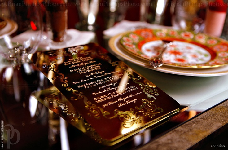 laser-cut gold RedBliss Invitation Design | Custom Invitations for Weddings, Parties and Corporate Events