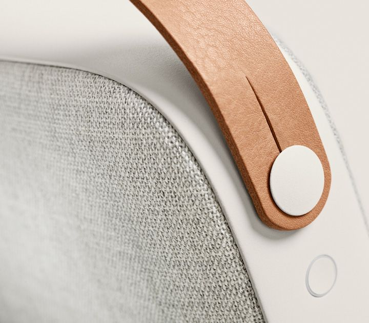 Vifa Helsinki - Delight your sight with this Danish-made beautifully designed portable speaker that is petite, and has a powerful and incredible Bluetooth speaker. | To get more updates on beautifully designed portable speakers, follow Best Buy Portable Speakers (https://www.pinterest.com/bestbuyspeakers/)