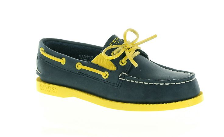 A bright twist on the classic Sperry Top-Sider Authentic Original.  Details like the added gore for stretch and fixed laces make for very easy slip on/off  #newyearnewstyle