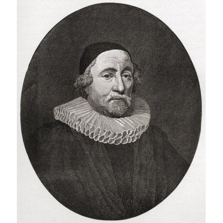 James Ussher Or Usher 1581 To 1656 Church Of Ireland Archbishop Of Armagh And Primate Of All Ireland From The Book Short History Of The English People By JR Green Published London 1893 Canvas Art - Ke