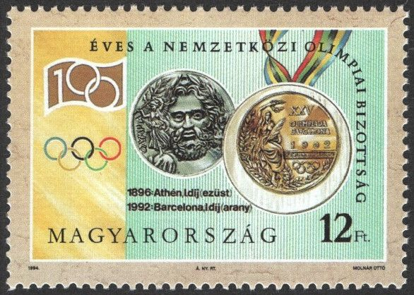#3443-3446 Hungary - Intl. Olympic Committee, Cent. (MNH)