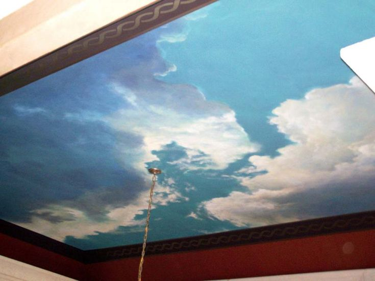The 25 best ideas about cloud ceiling on pinterest for Ceiling mural painting techniques