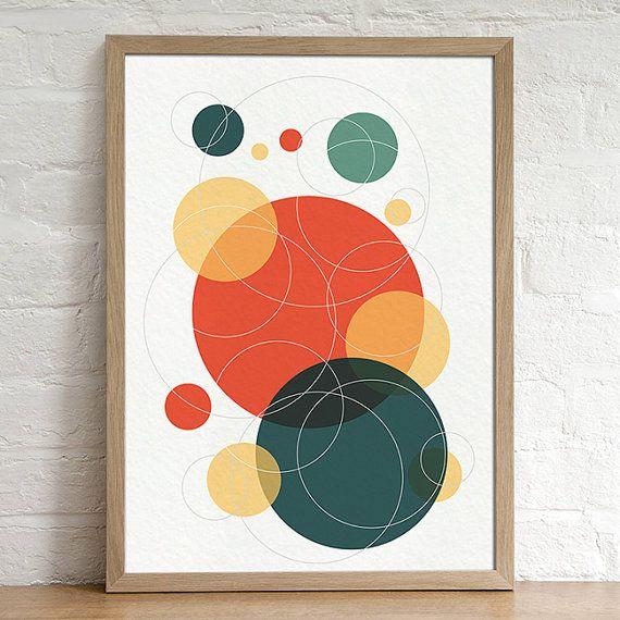 Circles Geometric Abstract Minimal Digital Instant by lakeandart