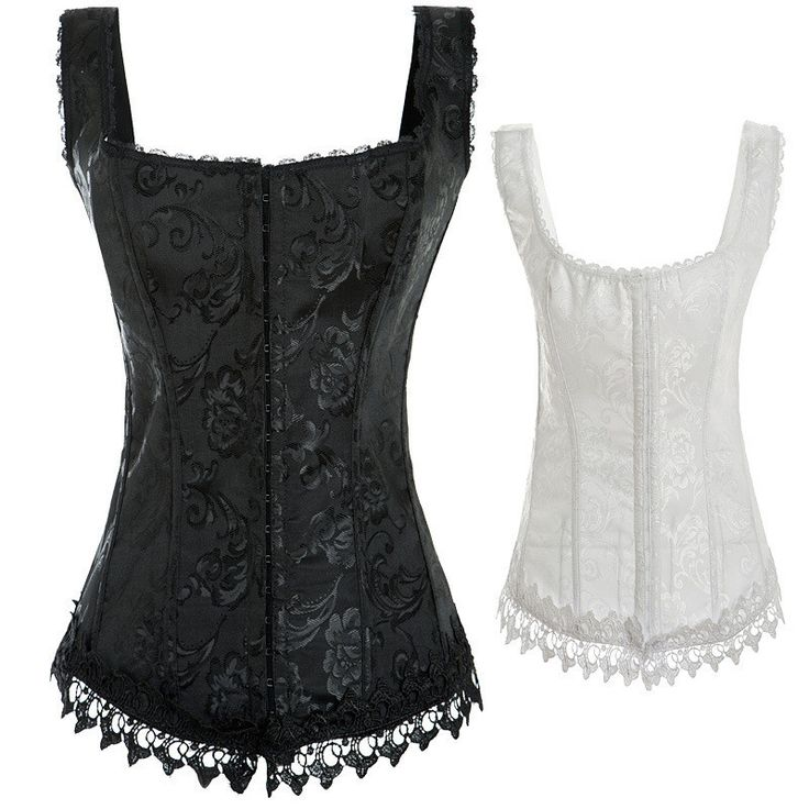nice Ladies Entire body Waistline Instruction Snowfall Whitened Corsets Striped Strapless Underbust Corset Attractive Corsets Waistline Coach Halloween outfits