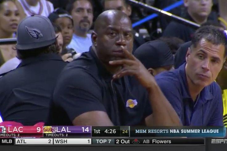 Magic Johnson pensamiento cara es el primer meme de la Liga de Verano de la NBA
