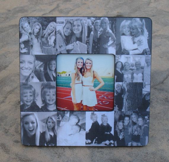 "Personalized Sister Gift, Bridesmaid Picture Frame, Custom Collage Maid of Honor Frame, Bridal Shower Gift, Parent Gift, 8"" x 8"" Frame on Etsy, $48.00"