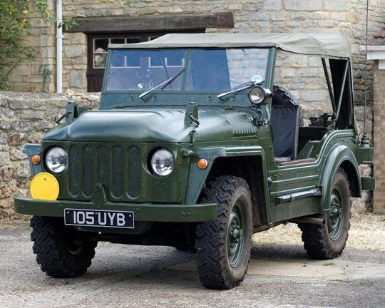"Austin Champ - the civilian version of a British Army vehicle made by Austin. The army version was officially known as ""Truck, 1/4 ton, 4×4, CT, Austin Mk.1"" however the civilian name ""Champ"" was universally, if unofficially, applied to it. It was mostly fitted with a modified Austin A90 Atlantic 4 cyl engine as a cheaper option than the more complex Rolls Royce designed B40, but the vehicle attracted few customers and only about 500 were built, the great majority of these being exported."