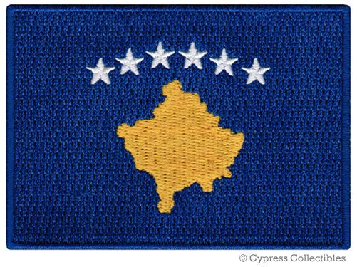 KOSOVO FLAG PATCH iron-on embroidered applique Top Quality