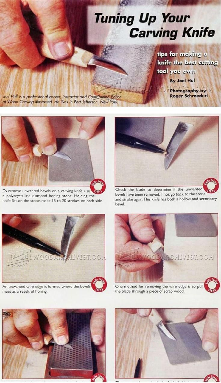 Sharpening Carving Knives - Sharpening Tips, Jigs and Techniques   WoodArchivist.com