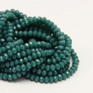 Facet bead green